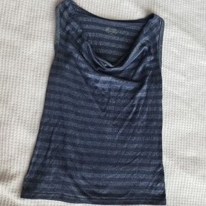 Blue and Silver Striped Tank